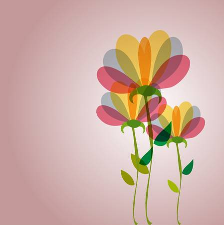 transparencies: Spring time contemporary transparent flowers background. EPS10 file version. This illustration contains transparencies and is layered for easy manipulation and customization.