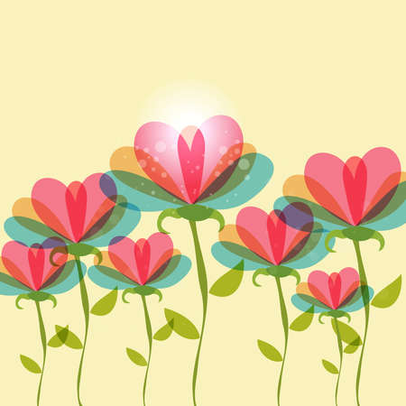 Spring time contemporary transparent flowers background. EPS10 file version. This illustration contains transparencies and is layered for easy manipulation and customization. Stock Vector - 17878406