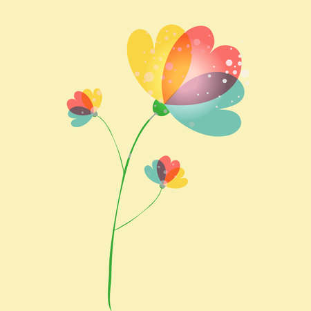 Spring time contemporary transparent flower background. EPS10 file version. This illustration contains transparencies and is layered for easy manipulation and customization. Vector