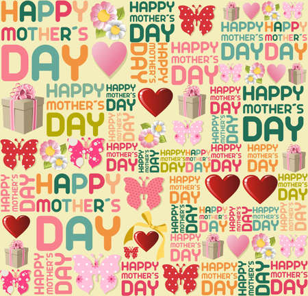 Happy mother Day seamless pattern background. Vector file layered for easy manipulation and coloring. Vector