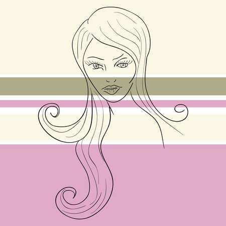 Woman face sketch with transparent bands. EPS10 file version. This illustration contains transparencies and is layered for easy manipulation and custom coloring Stock Vector - 18146645