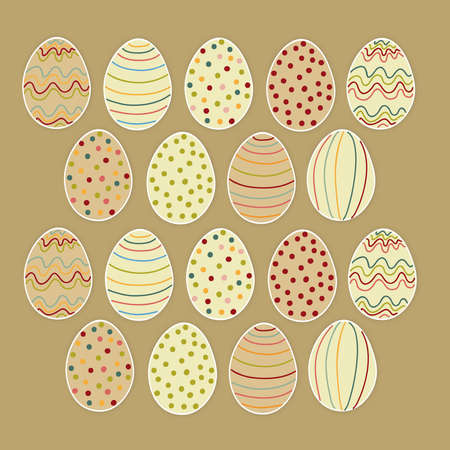 Happy Easter eggs set. file layered for easy manipulation and customisation. Stock Vector - 18221293