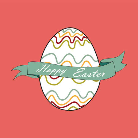 customisation: Single happy Easter egg greeting card background.  file layered for easy manipulation and customisation.