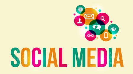 interaccion social: Medios de comunicaci�n social de fondo de los iconos. Esta ilustraci�n contiene transparencias y capas para una f�cil manipulaci�n y coloraci�n personalizada.