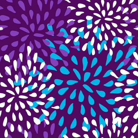 Abstract cute seamless pattern floral background  illustration layered for easy manipulation and custom coloring  Vector