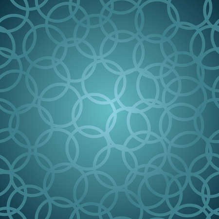 Blue Circle abstract design seamless pattern background  Vector illustration layered for easy manipulation and custom coloring  Vector