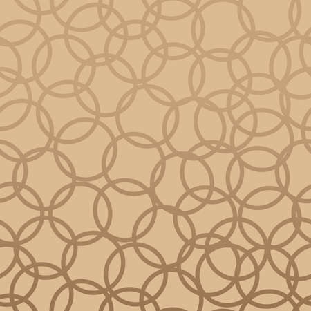 Elegant circles abstract design seamless pattern beige background  Vector illustration layered for easy manipulation and custom coloring  Vector
