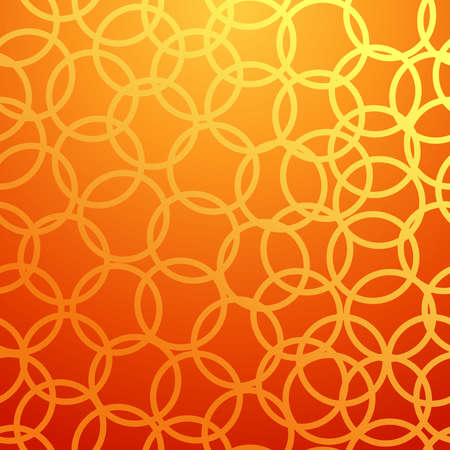 Ring abstract design seamless pattern orange background  Vector illustration layered for easy manipulation and custom coloring  Vector