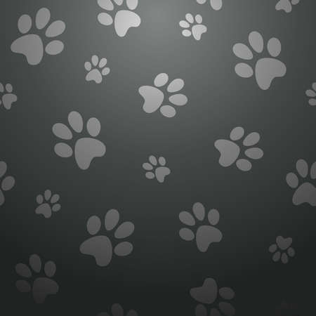 footstep: Stylish paw pet abstract design seamless pattern background  Vector illustration layered for easy manipulation and custom coloring  Illustration