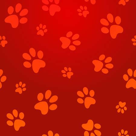 cool backgrounds: Capas pata pet rojo abstracto sin fisuras de fondo ilustraci�n vectorial para la manipulaci�n f�cil y colorante de encargo