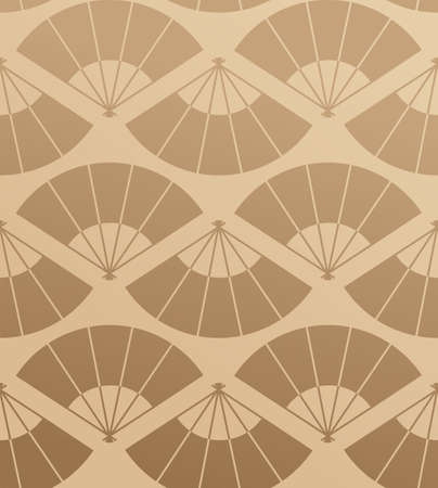 chinese fan: Japanese fan abstract seamless pattern background  Vector illustration layered for easy manipulation and custom coloring