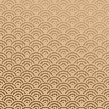 エレガントなオリエンタル抽象的な波のデザインのシームレスなパターン背景。ベクトル イラストを簡単に操作およびカスタム着色層します。  イラスト・ベクター素材