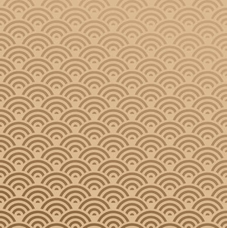 repeating pattern: Elegant Oriental abstract wave design seamless pattern background. Vector illustration layered for easy manipulation and custom coloring.