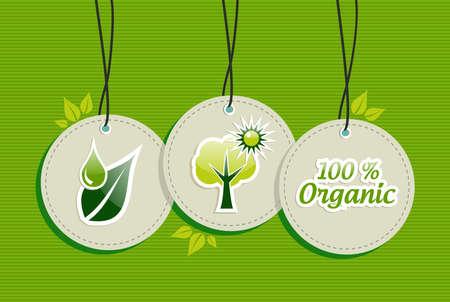 グリーン生物デザイン要素円の記号は、背景を設定します。ベクター ファイルを簡単に操作およびカスタム着色層。  イラスト・ベクター素材