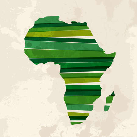 africa continent: Diversity colors transparent bands Africa over grunge background.  This illustration contains transparency and is layered for easy manipulation and custom coloring.