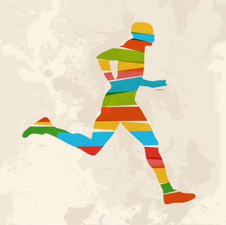diversidad: Diversidad de colores transparentes corredor bandas sobre fondo grunge. EPS10 versión del archivo. Esta ilustración contiene transparencias y es en capas para la manipulación fácil y colorante de encargo. Vectores
