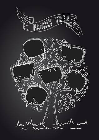 Black and white message bubble leaf tree design. Stock Vector - 20607473