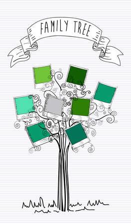 stapel papieren: Trendy instant foto bladboom geïsoleerde ontwerp. Stock Illustratie