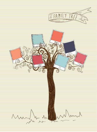 Feuille d'arbre rayures conception de fond photo instantanée. Banque d'images - 20607377