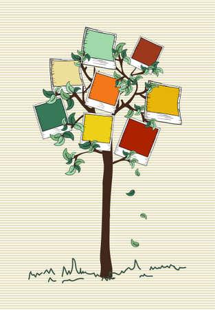 Feuille d'arbre rayures design coloré de fond de photo instantanée. Banque d'images - 20607476
