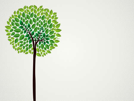 Cute  isolated green tree hand drawing.  file layered for easy manipulation and custom coloring.    Vector
