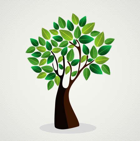 vida: Árbol verde de moda Diseño de las hojas. archivo de capas para la manipulación fácil y colorante de encargo.