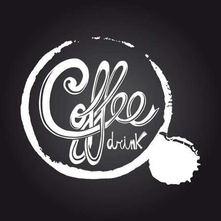 Vintage coffee drink blackboard illustration. Stock Vector - 21279734