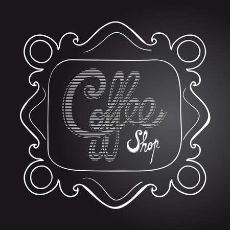 Vintage coffee text poster illustration. Vector