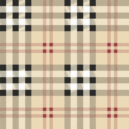 Vintage Schotse stof naadloos patroon.