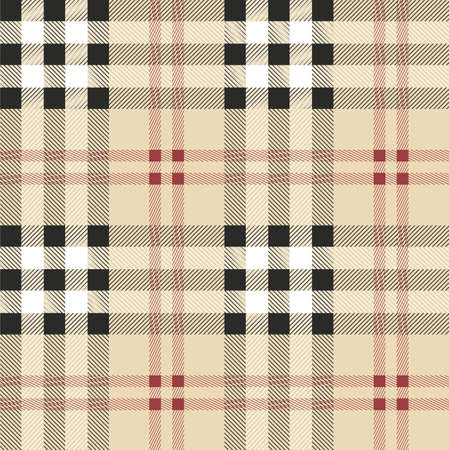 Vintage Scottish fabric seamless pattern. Vector