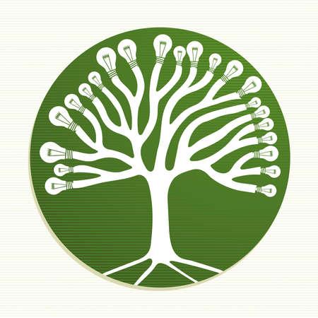 iconos energ�a: Ecologic energ�a ic�nico �rbol.