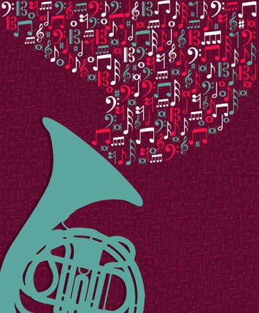 Big tuba music notes splash illustration. Vector file layered for easy manipulation and custom coloring. Stock Vector - 21280326
