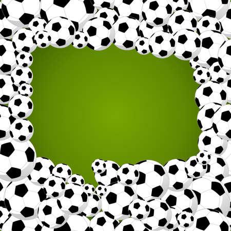 world cup: speech bubble shape of soccer balls world tournament concept illustration.