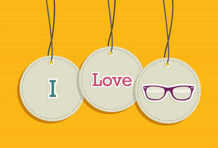 I love vintage fashion hipsters hang tags illustration set.  Vector