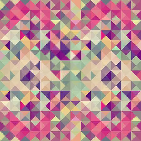 カラフルなレトロな流行に敏感な三角形のシームレスなパターン図