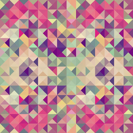 Colorful retro hipsters triangle seamless pattern illustration   Vector