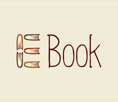 electronic book: Retro electronic book text illustration.
