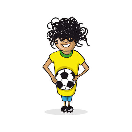 sportman: Professional career football player man work success illustration.