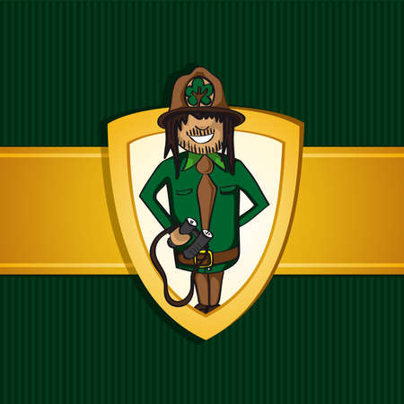 make a call: Service forest ranger man cartoon tree icon hat.  Illustration