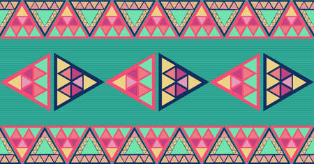 Trendy colorful triangles seamless pattern background.  Vector