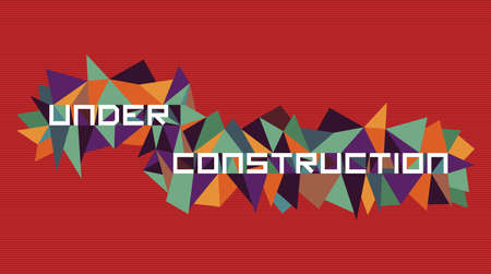 Trendy under construction  flat text over retro triangle composition background. Stock Vector - 21508557