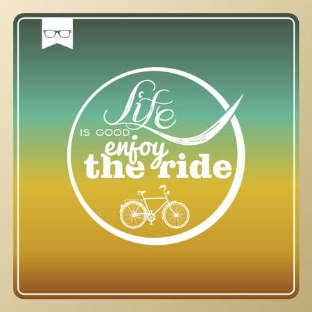 enjoy life: Retro hipster enjoy life bicycle wallpaper.