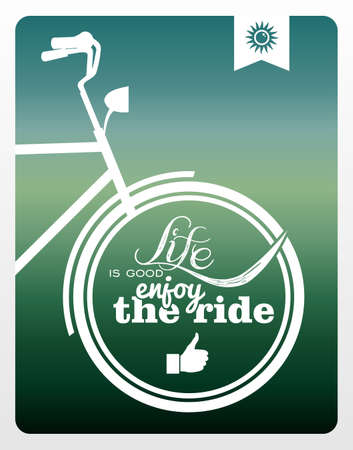 simple life: Vintage hipster enjoy life bike background