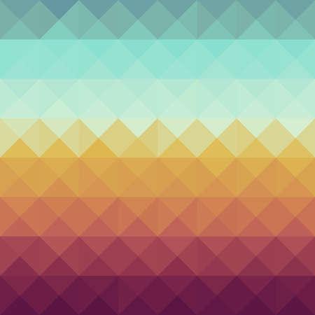 カラフルなレトロな流行に敏感な三角形のシームレスなパターン背景