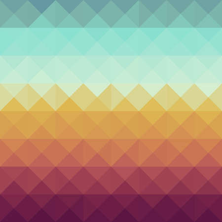 Colorful retro hipsters triangle seamless pattern background