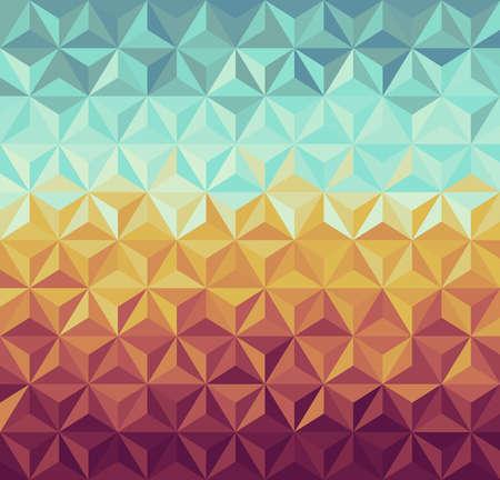 カラフルなビンテージ流行に敏感な三角形のシームレスなパターン背景