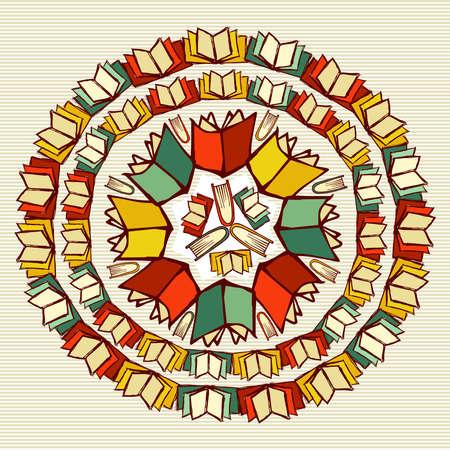 Terug naar Schoolboeken onderwijs mandala.