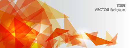 transparency: Trendy orange transparent triangles abstract background illustration.  vector with transparency organized in layers for easy editing.
