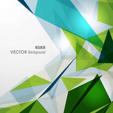 Moderni triangoli trasparenti colorati illustrazione sfondo astratto. vettore con trasparenza organizzata in strati di facile montaggio. Archivio Fotografico - 21599867