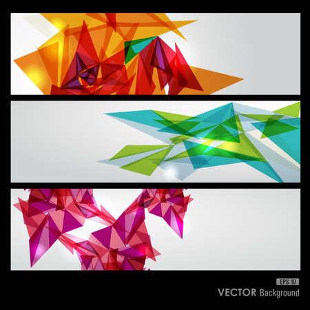 forme geometrique: Modernes triangles transparents colorés abstrait illustration.vector avec transparence organisée en couches pour l'édition facile.